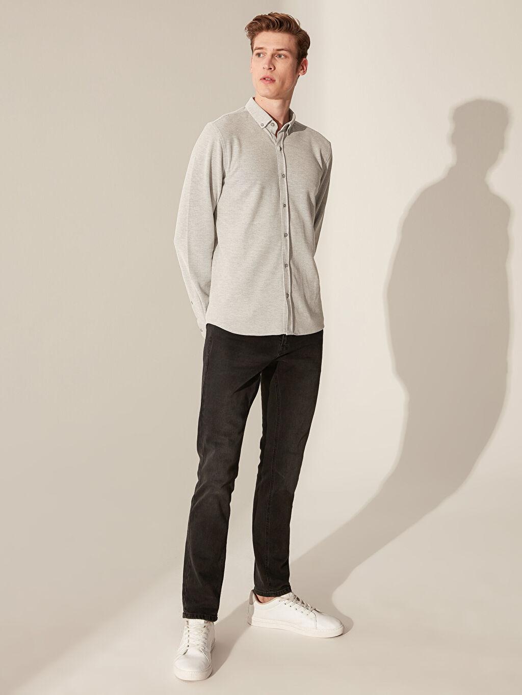 Erkek Slim Fit Basic Gömlek