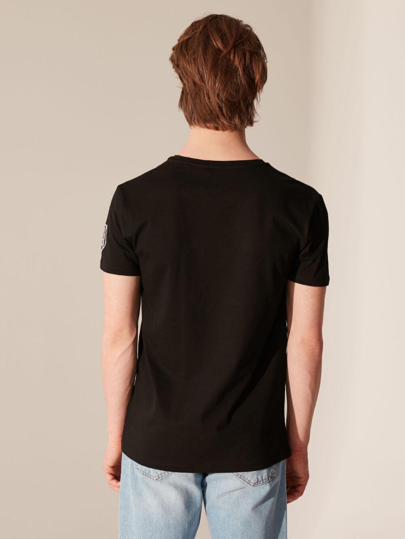 %100 Pamuk Marvel Baskılı Beşiktaş Amblemli Tişört