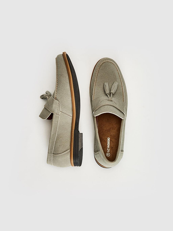 Diğer malzeme (pvc) Penye Astar Standart Günlük Klasik Ayakkabı Hafif Koku Yapmayan İç Taban Bağcıksız Düz Erkek Loafer Ayakkabı