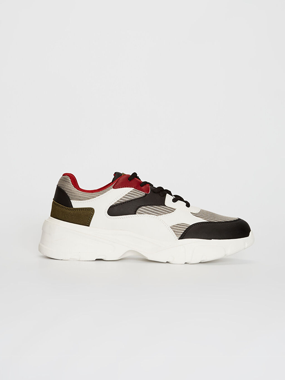 Bej Erkek Kalın Taban Renk Bloklu Sneaker 0SD122Z8 LC Waikiki