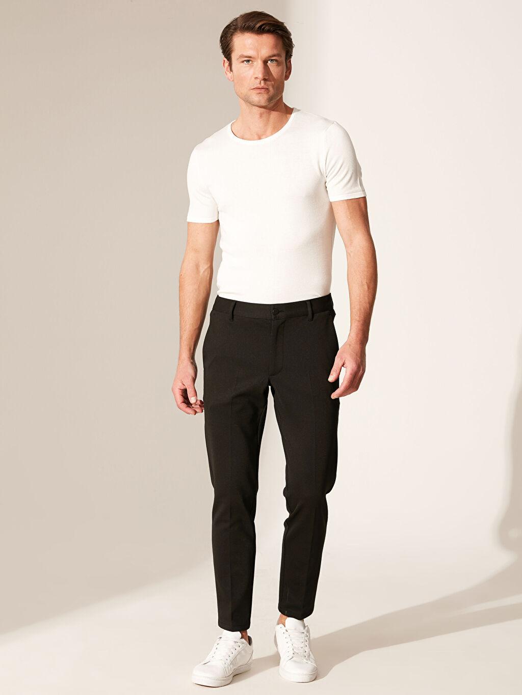 Erkek Slim Fit Poliviskon Pantolon