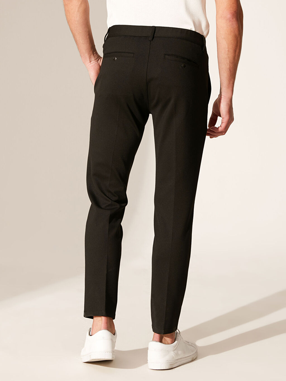 %81 Polyester %4 Elastan %15 Viskoz Slim Fit Poliviskon Pantolon