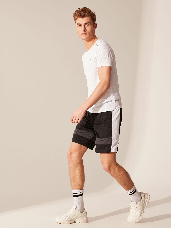 %100 Polyester Şort Standart Kalıp Aktif Spor Şort