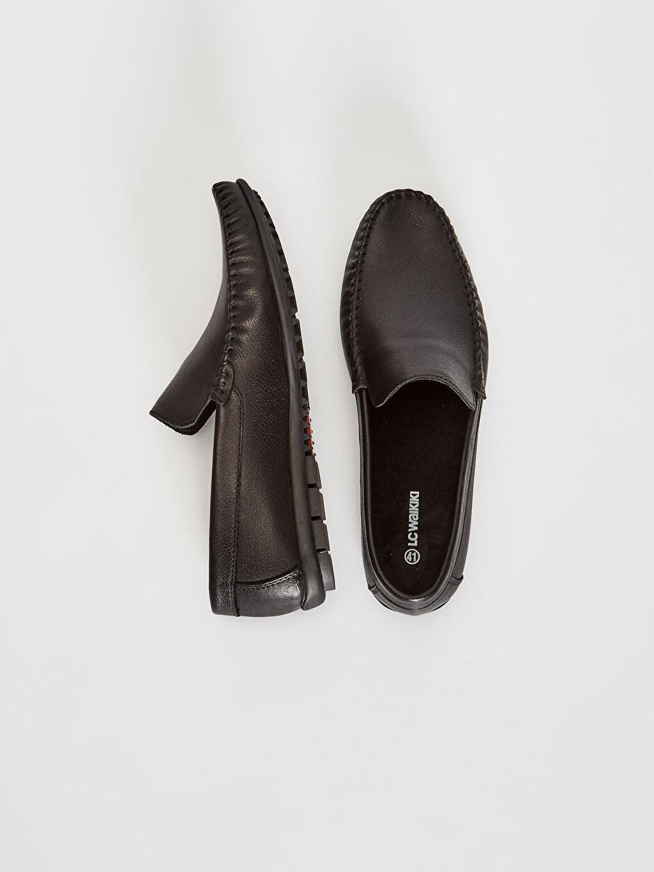 Deri Penye Astar Standart Bağcık Esnek Günlük Klasik Ayakkabı Deri Erkek Hakiki Deri Loafer Ayakkabı
