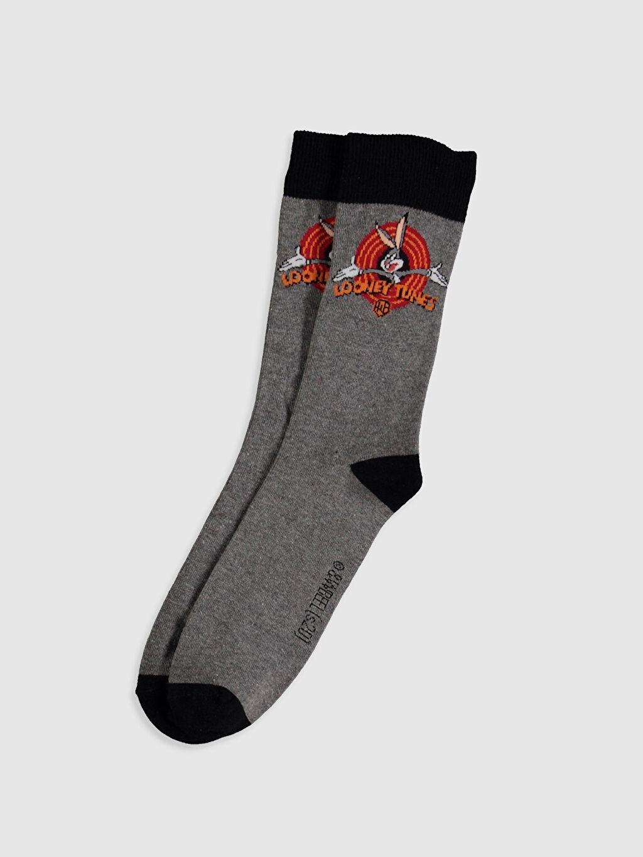 Çok Renkli Bugs Bunny Baskılı Soket Çorap 0ST481Z8 LC Waikiki