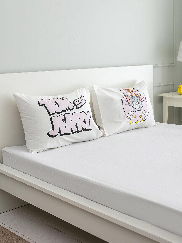 Çok Renkli Tom ve Jerry Lisanslı Yastık Kılıfı 2'li 0SD113Z4 LC Waikiki