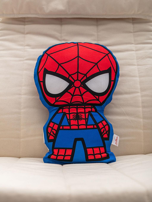 %100 Polyester Bebek Kırlent Baskılı Spiderman Lisanslı Dolgulu Kırlent