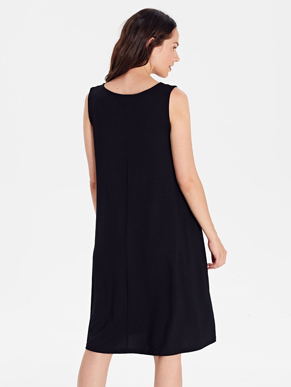 Kadın Salaş Düz Viskon Elbise