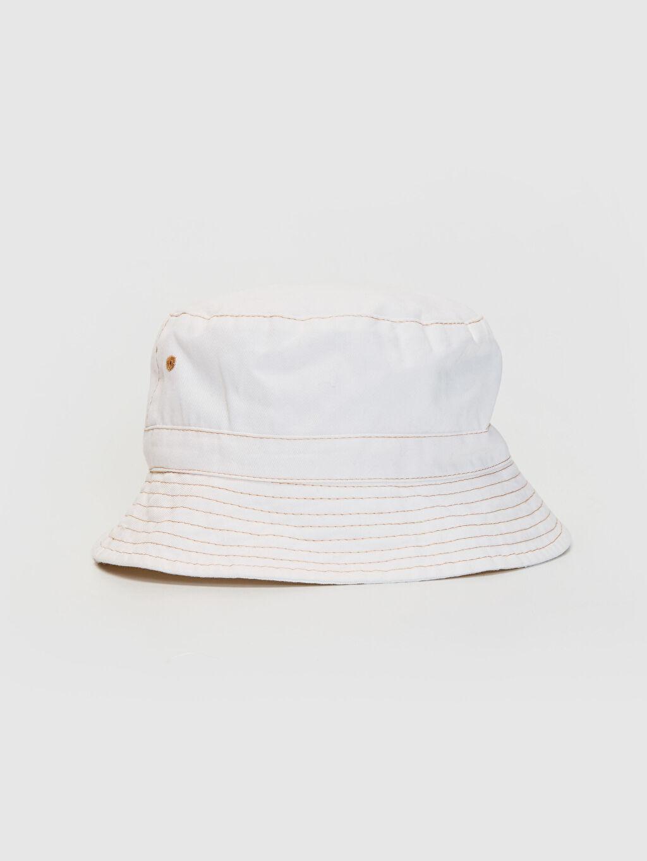 Beyaz Gabardin Bucket Şapka 0S1665Z8 LC Waikiki