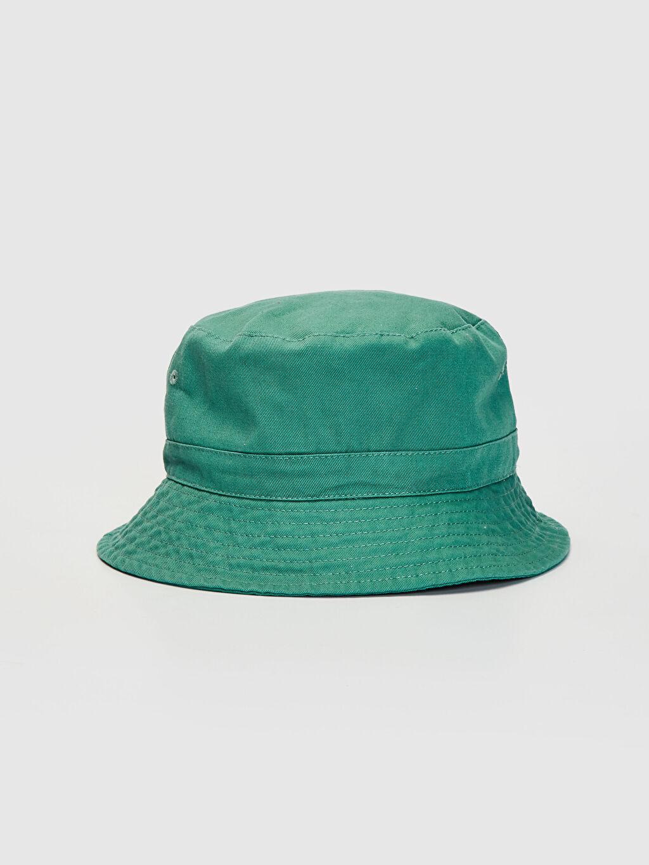 Yeşil Gabardin Bucket Şapka 0S1665Z8 LC Waikiki