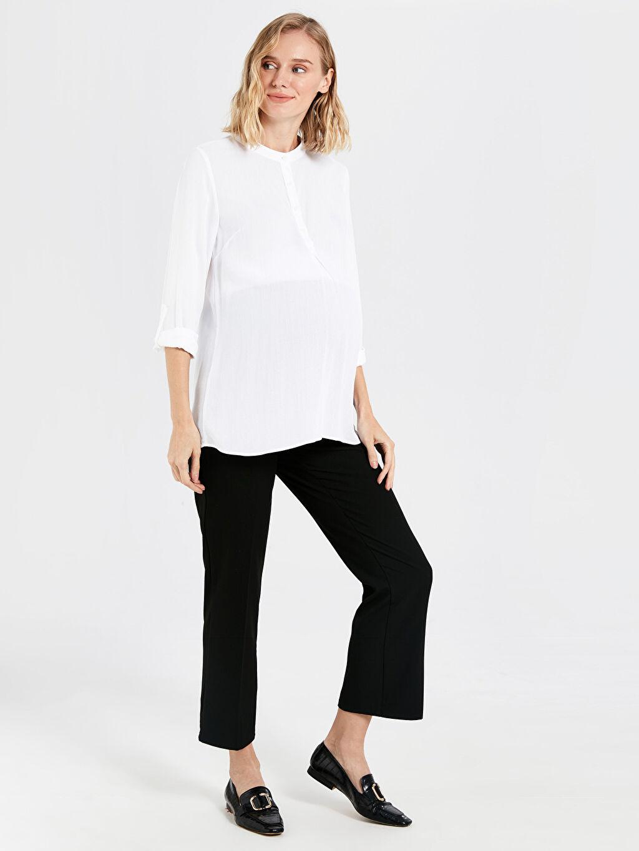 %63 Polyester %5 Elastan %32 Viskon Pantolon Hamile Havuç Pantolon