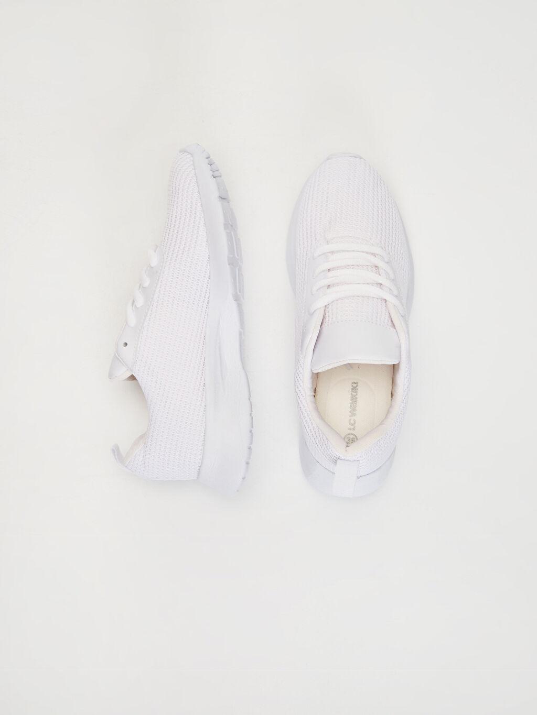 Tekstil malzemeleri Diğer malzeme (poliüretan) Tekstil malzemeleri  Kadın Bağcıklı Günlük Spor Ayakkabı