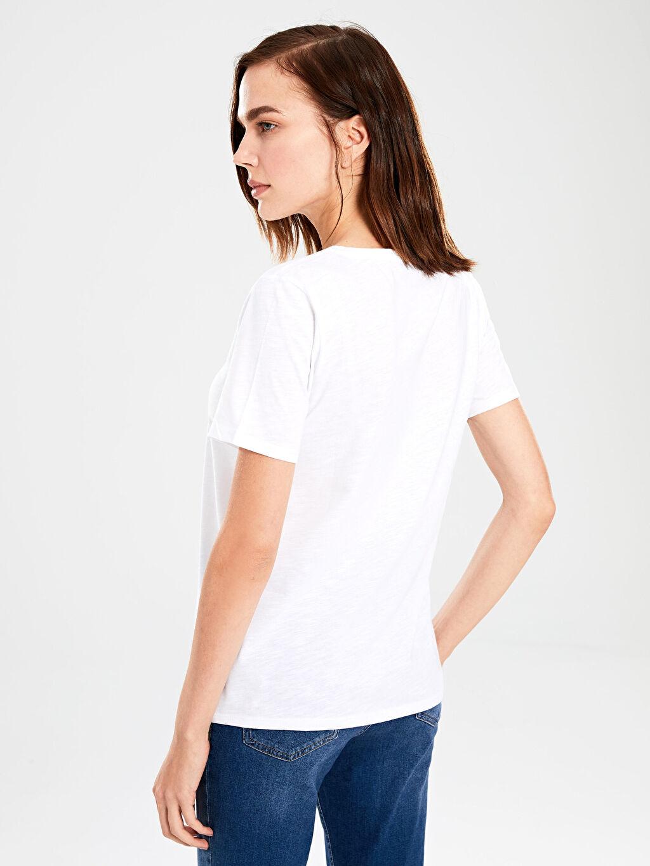%100 Pamuk Düz Basic Pamuklu Tişört