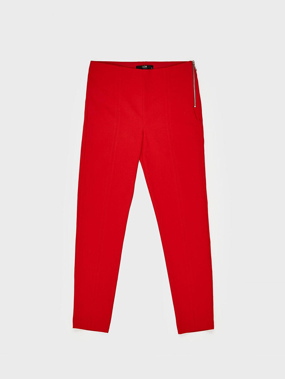 LC Waikiki Kırmızı Normal Bel Esnek Skinny Pantolon