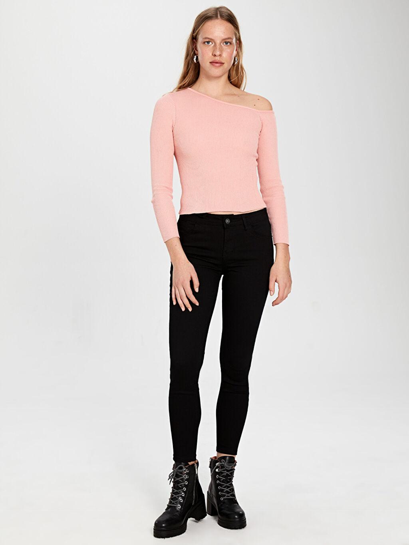 %84 Pamuk %14 Polyester %2 Elastan Jean Standart Normal Bel Dar Normal Bel Jean Pantolon
