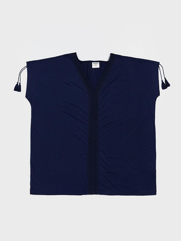 Lacivert Dantel Detaylı Salaş Elbise 0S9109Z8 LC Waikiki