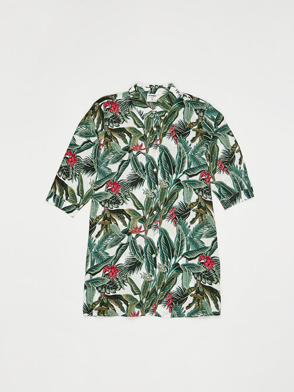 LC Waikiki Yeşil Salaş Viskon Elbise