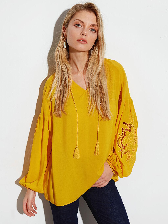Sarı Bluz 0S9277Z8 LC Waikiki