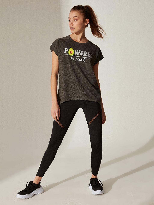 %100 Polyester Slogan Baskılı Spor Tişört
