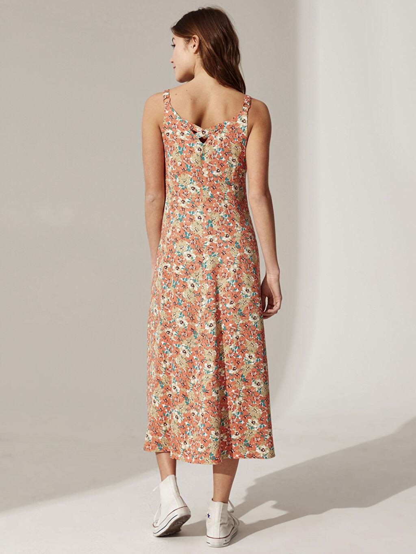Kadın Desenli Viskon Elbise