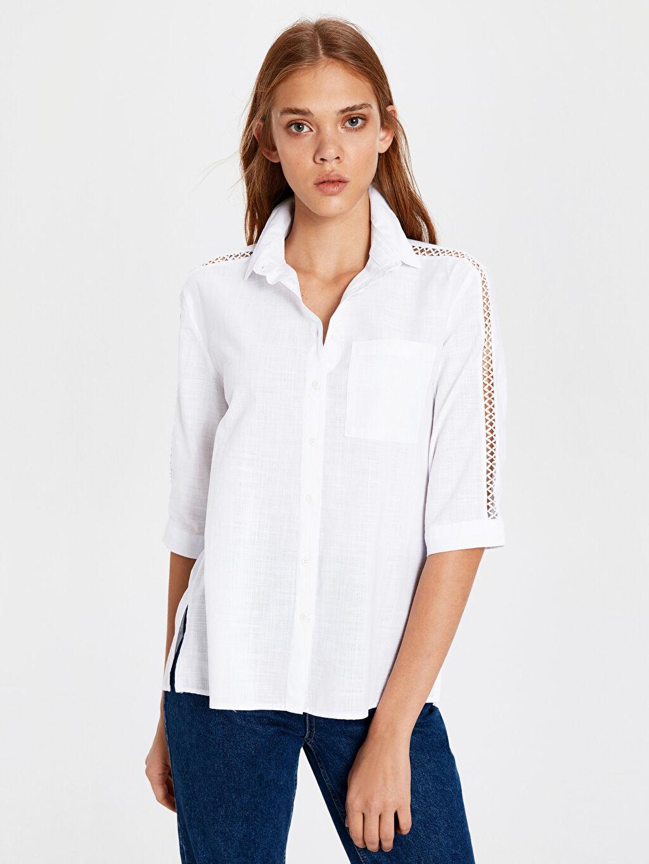 Beyaz Gömlek 0SI768Z8 LC Waikiki