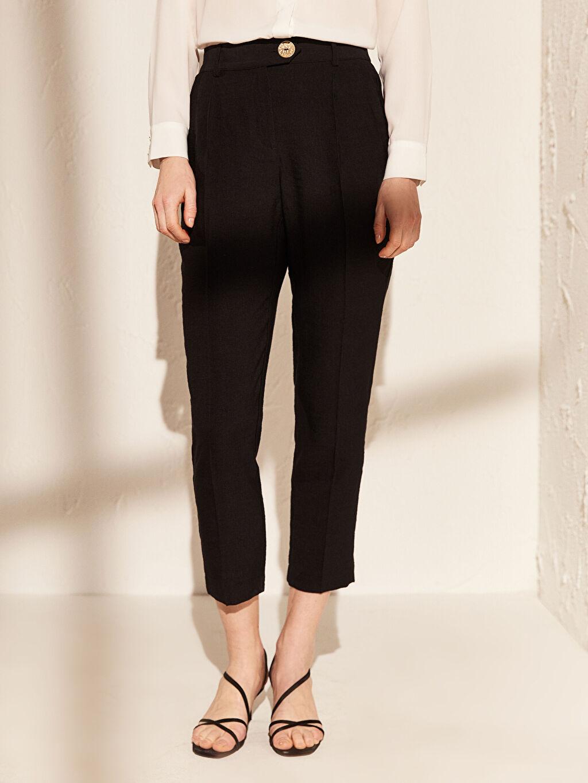 Kadın Bilek Boy Cigarette Kumaş Pantolon