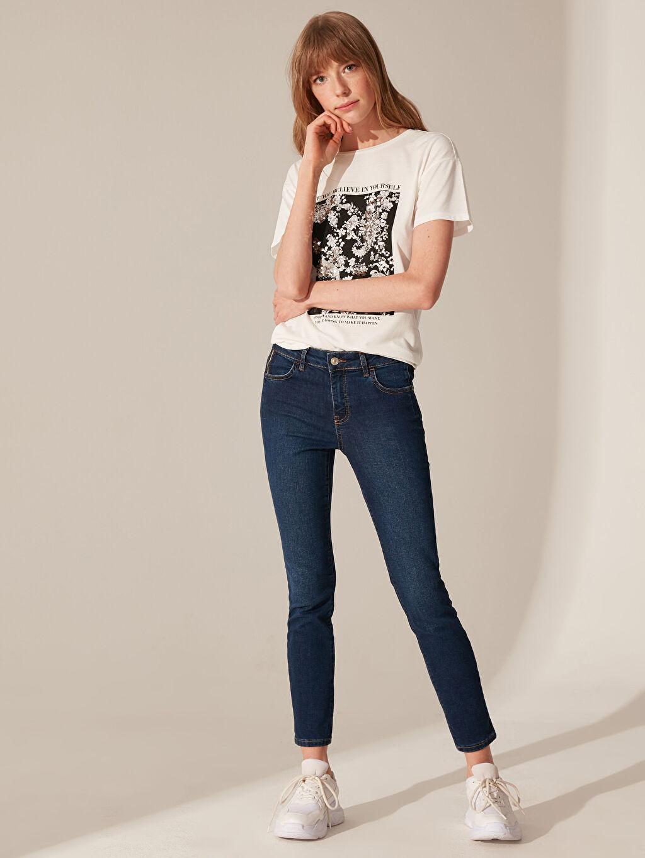 İndigo Normal Bel Skinny Jean Pantolon 0SL810Z8 LC Waikiki