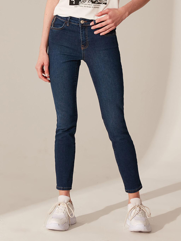 Kadın Normal Bel Skinny Jean Pantolon