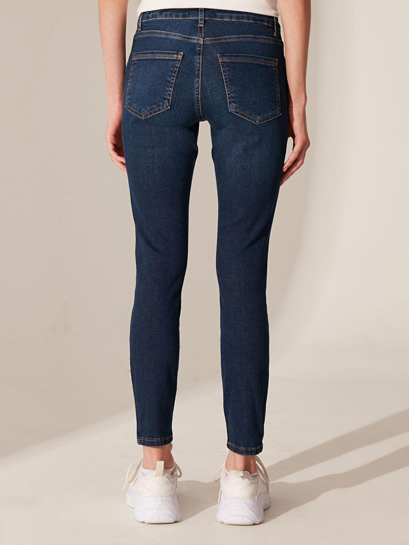 %85 Pamuk %13 Polyester %2 Elastan Normal Bel Skinny Jean Pantolon