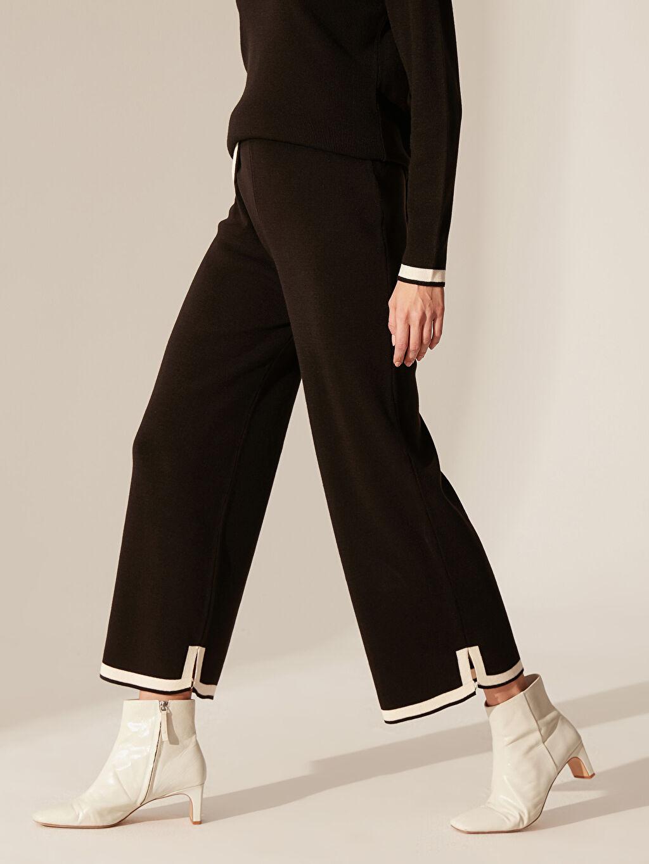 Kadın Şerit Detaylı Triko Pantolon