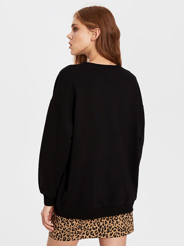 Kadın Yazı Baskılı Oversize Sweatshirt