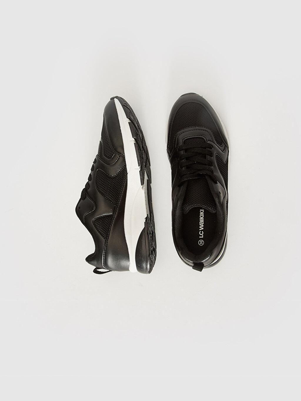 %0 Diğer malzeme (pvc) %0 Tekstil malzemeleri (%100 poliester)  Kadın Kalın Taban Günlük Spor Ayakkabı