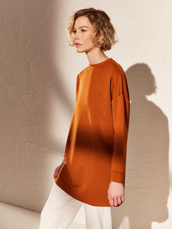 Kadın Düz Salaş Oversize Sweatshirt