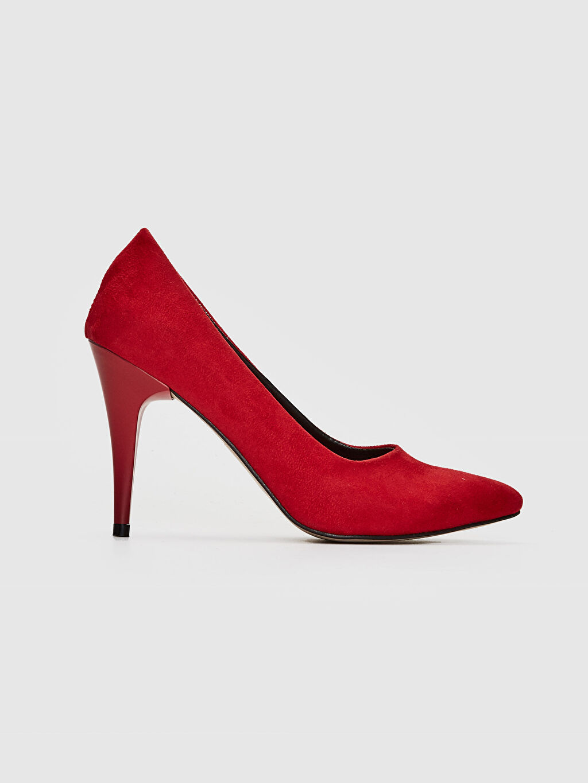 Kırmızı Kadın Süet Stiletto Ayakkabı 0SO354Z8 LC Waikiki