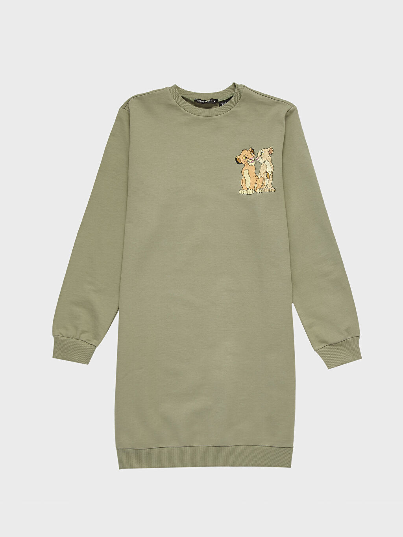 Haki Baskılı Pamuklu Oversize Sweatshirt