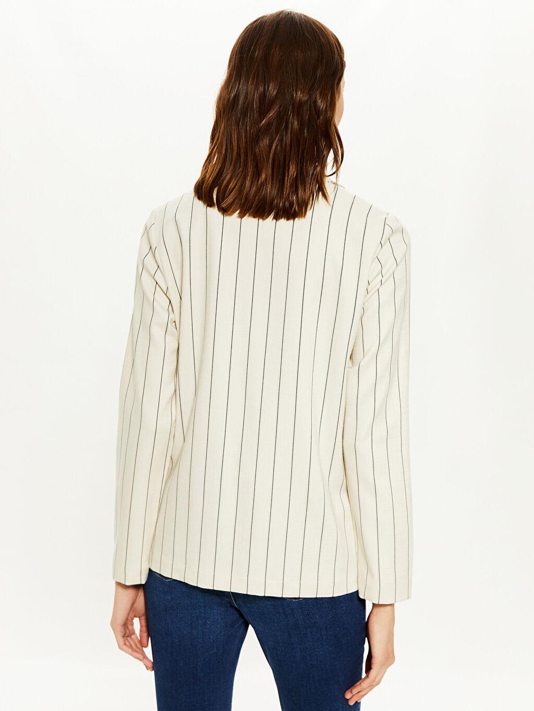Çizgili Blazer Ceket