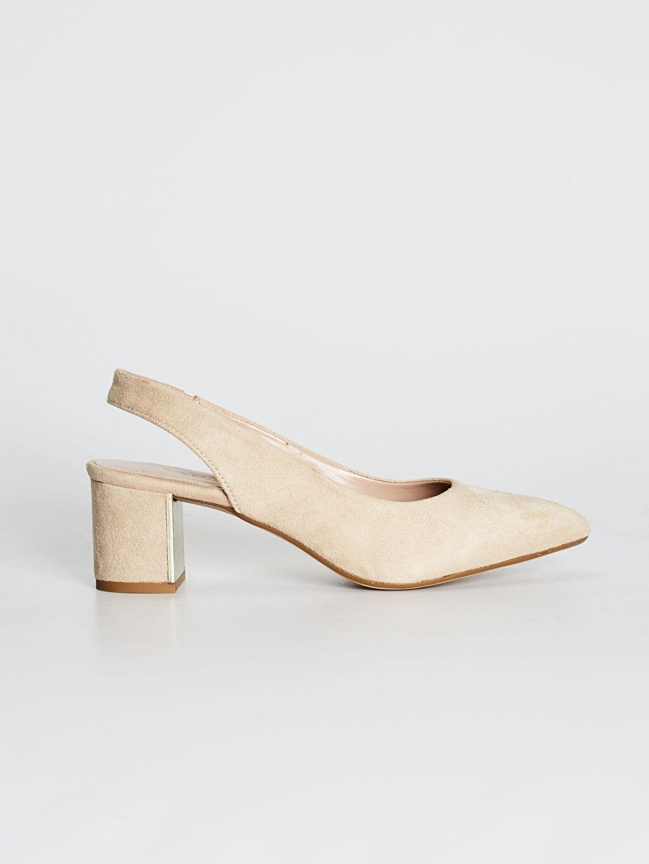 Bej Kadın Süet Topuklu Ayakkabı 0SQ620Z8 LC Waikiki