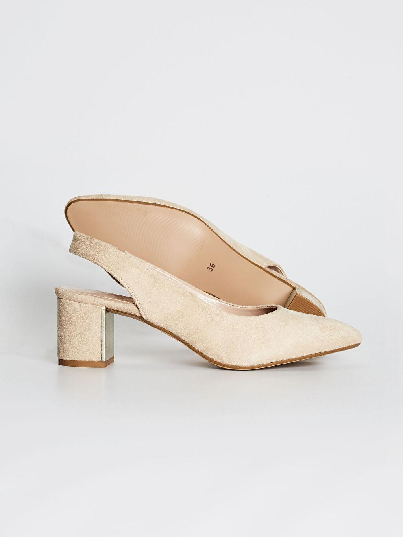 %0 Diğer malzeme (poliüretan) %0 Tekstil malzemeleri (%100 poliester)  Kadın Süet Topuklu Ayakkabı