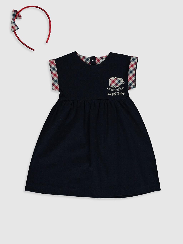Lacivert Luggi Baby Kız Bebek Elbise ve Taç 0ST375Z3 LC Waikiki