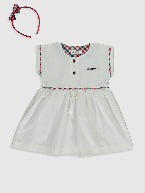 Ekru Luggi Baby Kız Bebek Elbise ve Taç 0ST408Z3 LC Waikiki