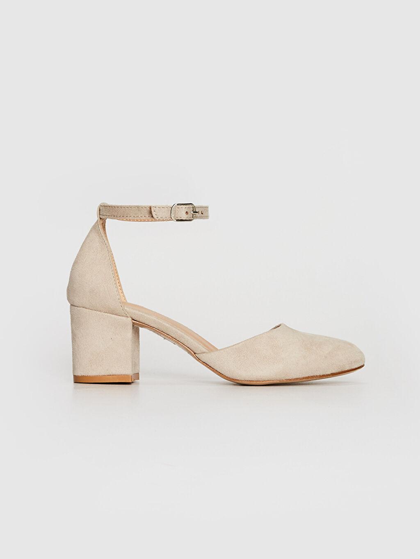 Bej Kadın Süet Topuklu Ayakkabı 0ST818Z8 LC Waikiki