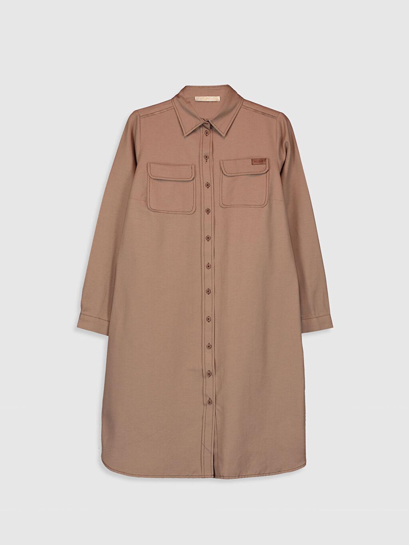 Kahverengi Allday Kapamalı Cep Detaylı Gömlek 0SV265Z8 LC Waikiki