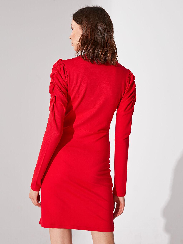 Kadın Re-SIS Drapeli Viskon Elbise