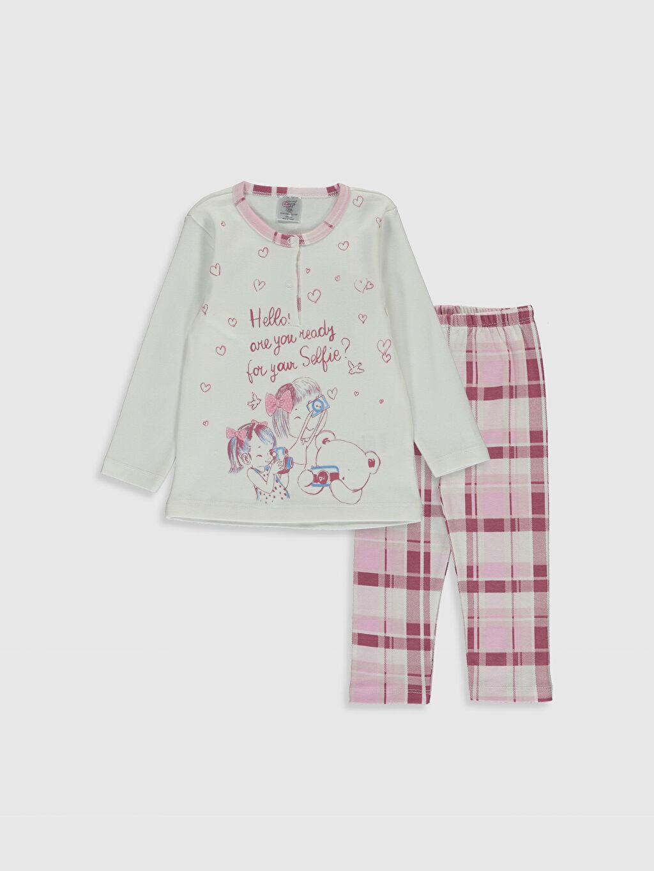 Pembe Luggi Baby Kız Bebek Desenli Pijama Takımı 0SV820Z1 LC Waikiki