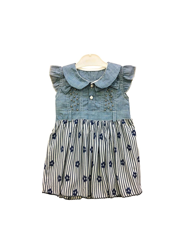 Elbise Baskılı By Leyal For Kids Kız Bebek Desenli Elbise