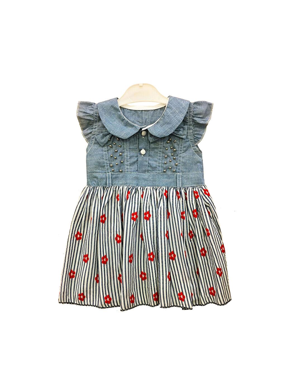 Kırmızı By Leyal For Kids Kız Bebek Desenli Elbise 0SAO43Z1 LC Waikiki