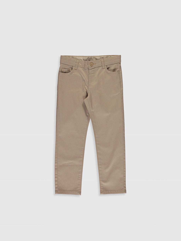 Bej Erkek Çocuk Slim Gabardin Pantolon 0S0523Z4 LC Waikiki