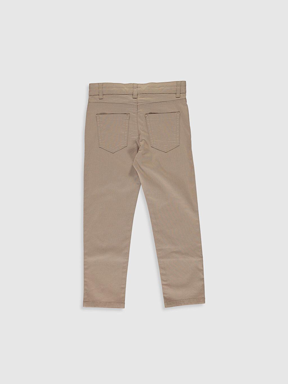 %97 Pamuk %3 Elastan Aksesuarsız Normal Bel Astarsız Dar Beş Cep Pantolon Düz Gabardin Orta Kalınlık Erkek Çocuk Slim Gabardin Pantolon