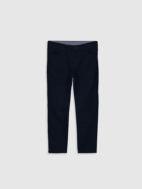 Lacivert Erkek Çocuk Gabardin Pantolon 0S0525Z4 LC Waikiki