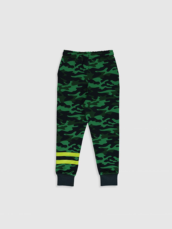 %80 Pamuk %20 Polyester  Erkek Çocuk Kamuflaj Desenli Jogger Eşofman Altı
